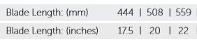 Handsaw blade length chart